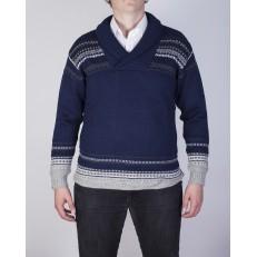 Glesver V neck collared sweater - Men